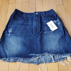Evris Denim Mini Skirt Sz XS-S